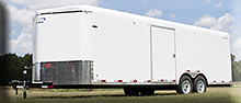 8 1/2 x 24 Sharp car hauler enclosed trailer