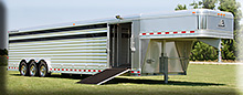 8 x 32 Elite aluminum SHOW CATTLE trailer