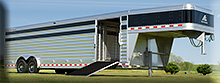 8 x 28 Elite aluminum SHOW CATTLE trailer