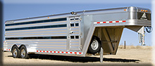 Elite low profile show pig/sheep/goat trailer (1)